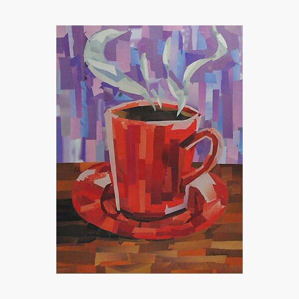 Red Coffee Cup Photographic Print
