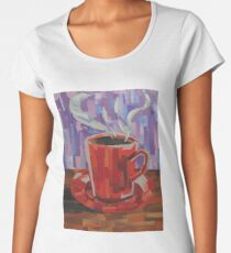 Red Coffee Cup Women's Premium T-Shirt