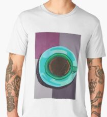 Green Coffee Cup from a Bird's Eye View Men's Premium T-Shirt