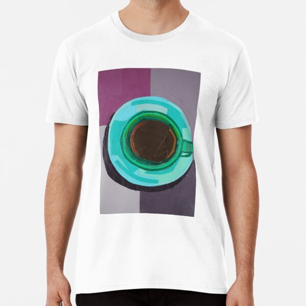 Green Coffee Cup from a Bird's Eye View Premium T-Shirt