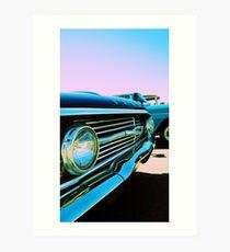 Parked Chrome Art Print