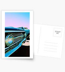 Parked Chrome Postcards