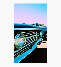 Parked Chrome Photographic Print