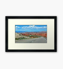 On The Winding Road Framed Print