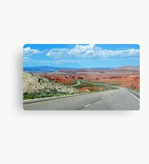 On The Winding Road Metal Print
