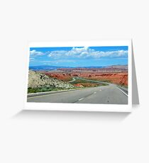 On The Winding Road Greeting Card