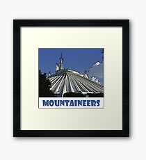 "Space Mountain Disney World ""Mountaineers"" Framed Print"