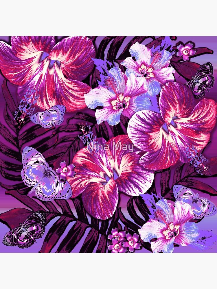 Red Violet Aloha by ninabmay