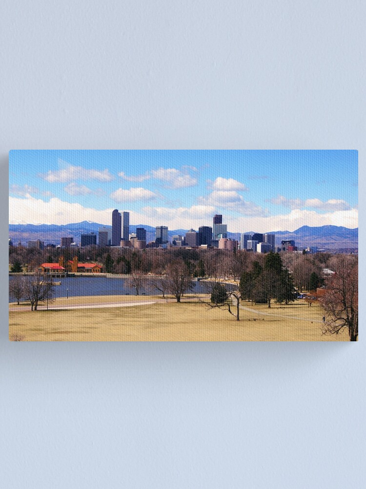 Alternate view of Downtown Denver in March Canvas Print