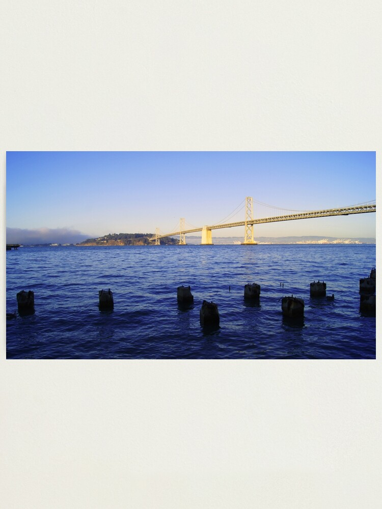 Alternate view of Bay Bridge in Late Afternoon Photographic Print