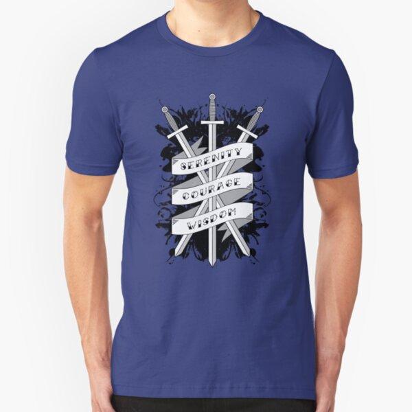 Serenity, Courage & Wisdom Slim Fit T-Shirt