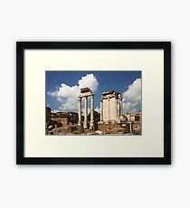 The Ruin of Roman Forum, Rome, Italy Framed Print