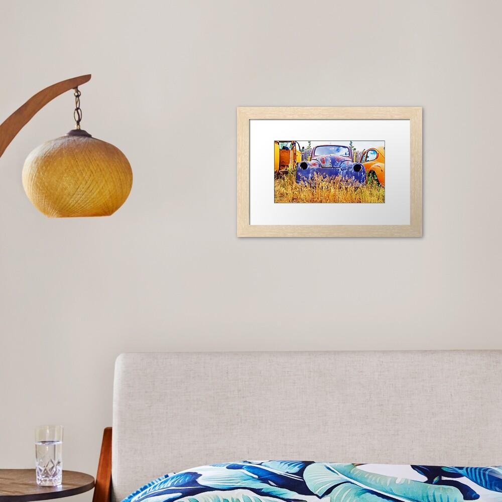 Rusty Gold Framed Art Print