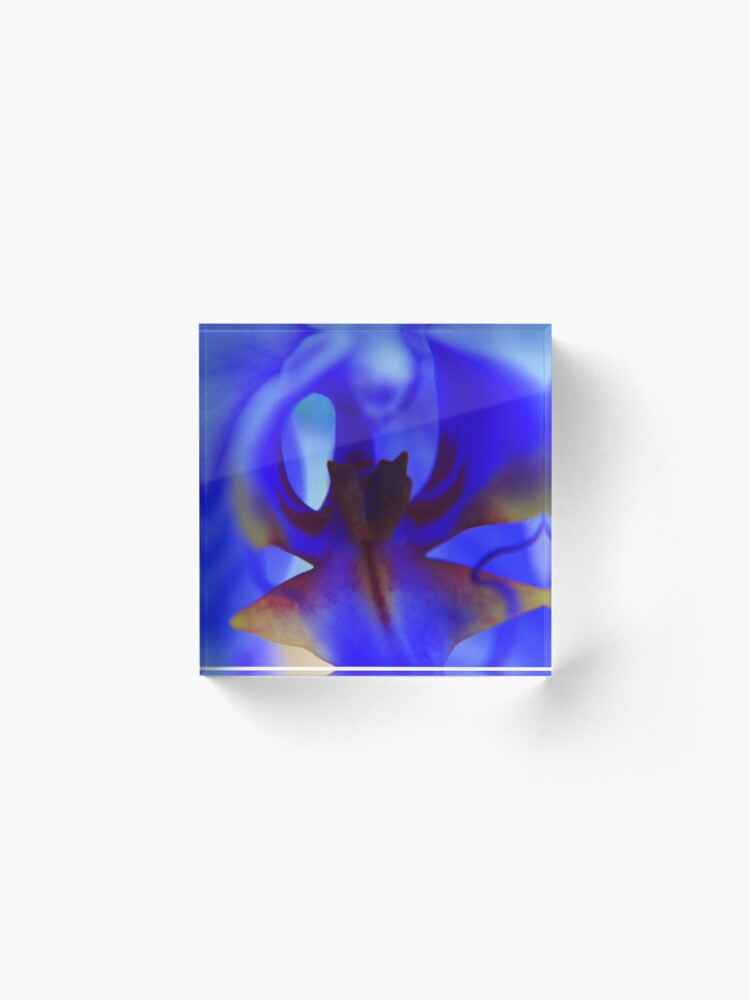 Alternate view of Blue Orchid Acrylic Block