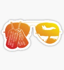 Maverick's Aviators & Dogtags Sticker