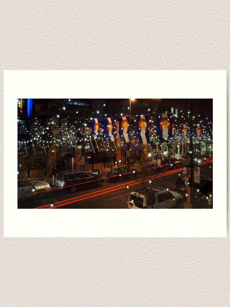 Alternate view of The Lights of Larimer Square Art Print