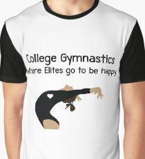 College Gymnastics Salute Graphic T-Shirt