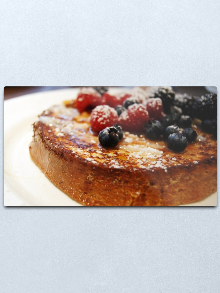 Alternate view of Brioche French Toast with Berries Metal Print
