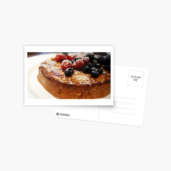 Brioche French Toast with Berries Postcard