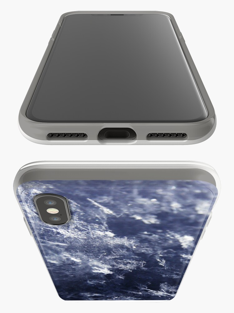 Alternate view of Frosted Snowflakes HDR iPhone Case & Cover