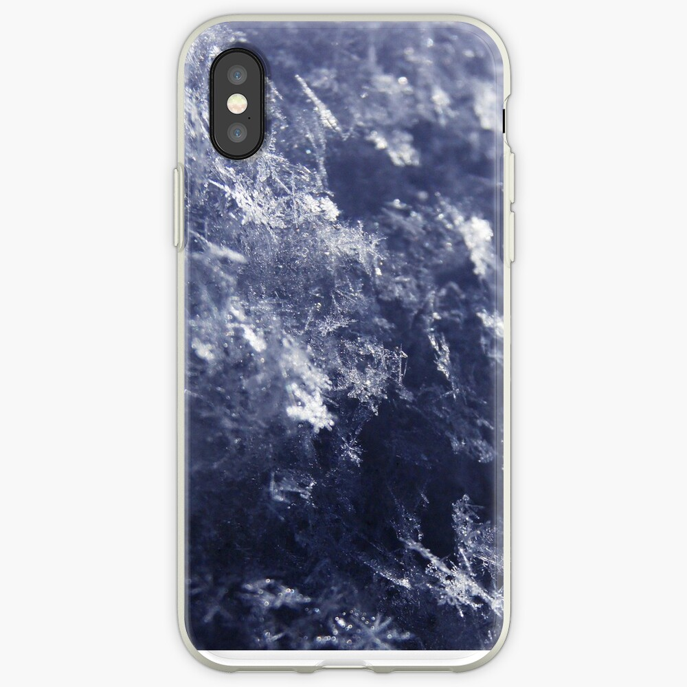 Frosted Snowflakes HDR iPhone Case & Cover