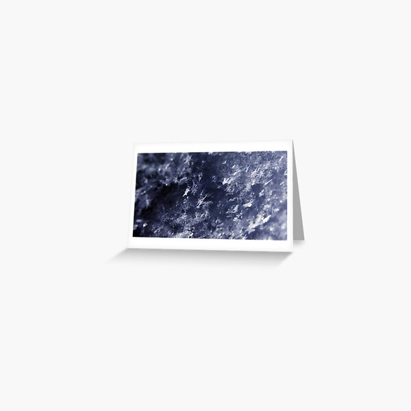 Frosted Snowflakes HDR Greeting Card