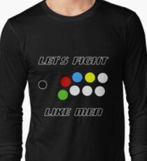 Arcade Stick: Let's Fight Like Men T-Shirt