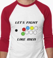Arcade Stick: Let's Fight Like Men T-Shirt