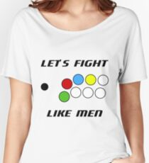 Arcade Stick: Let's Fight Like Men Women's Relaxed Fit T-Shirt