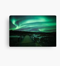 Aurora Borealis at Thingvellir - Iceland Canvas Print