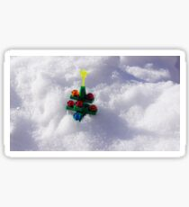 Lego Christmas Tree in the Snow Sticker