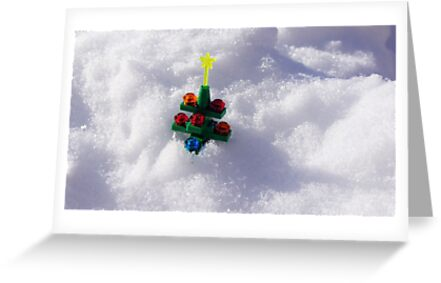 Lego Christmas Tree in the Snow by dotstarstudios