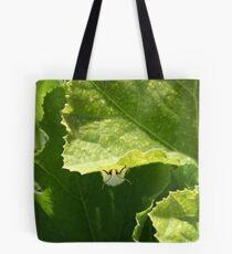Peek-a-boo Moth Tote Bag