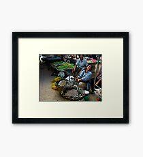market fun Framed Print