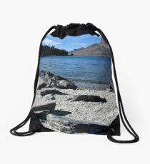 Early morning at Lake Wakatipu Drawstring Bag