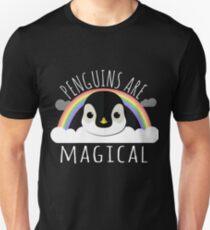 Camiseta ajustada Los pingüinos son mágicos