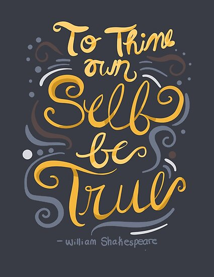 to thine own self be true hamlet