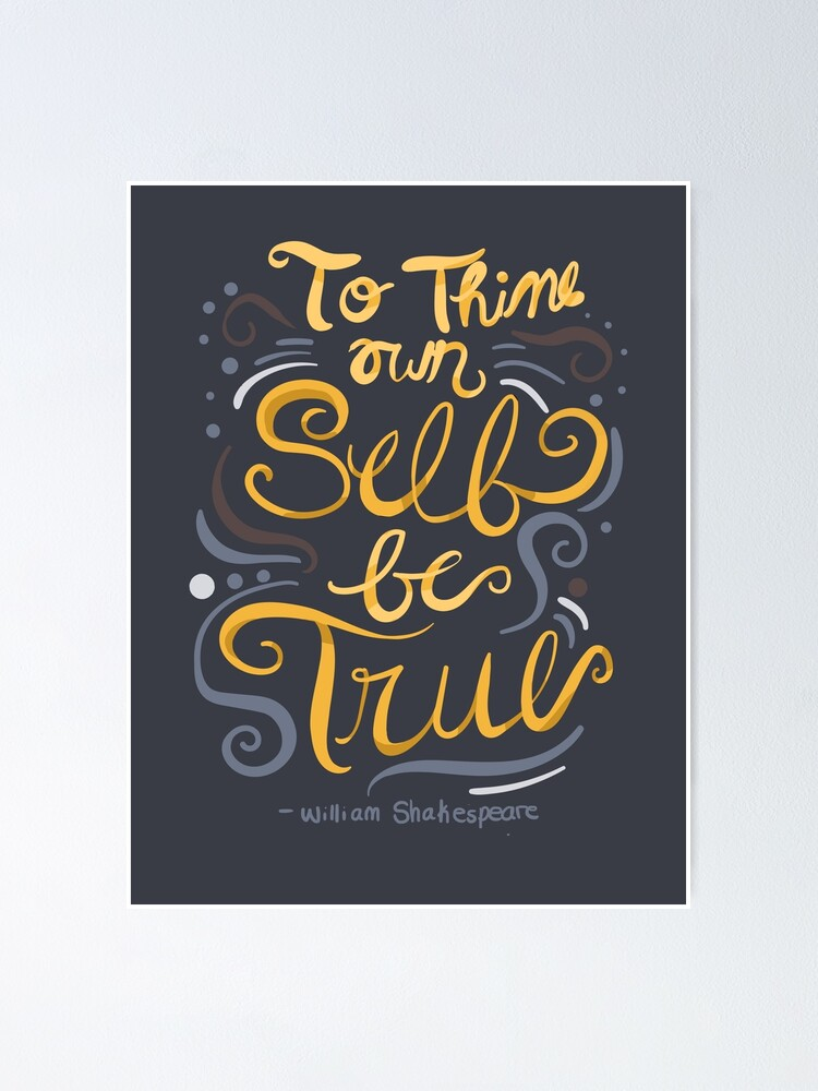 Hamlet Shakespeare Typography Poster Quote Home Wall Art