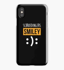 Schroedingers Smiley - Funny Science Shirt Physics Nerd Gift iPhone Case