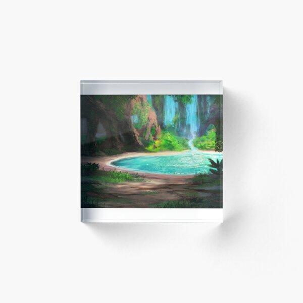 Hidden Lagoon Acrylic Block