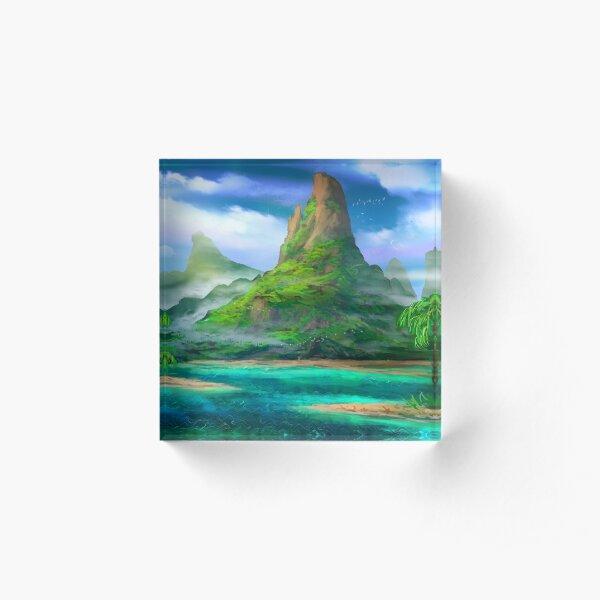 Treasure Island Acrylic Block
