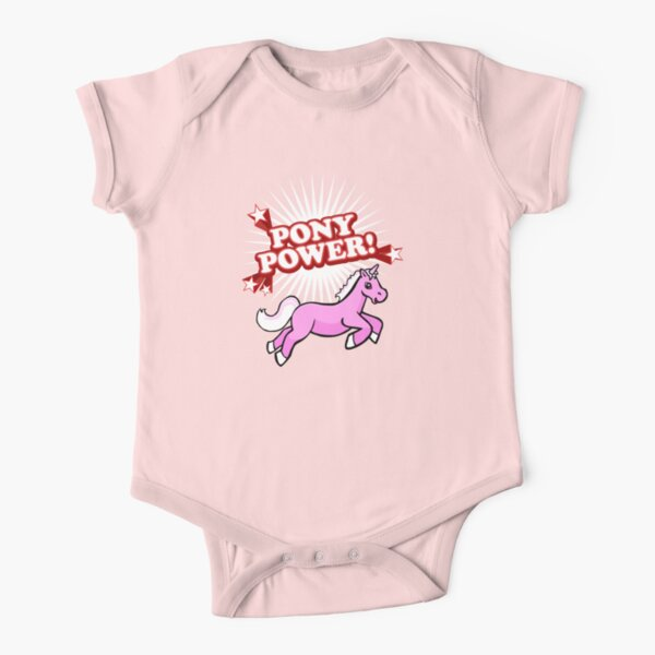 Pony Power Short Sleeve Baby One-Piece