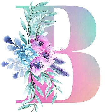 Letter B  With Floral decoration - For Women and Girls by indicat
