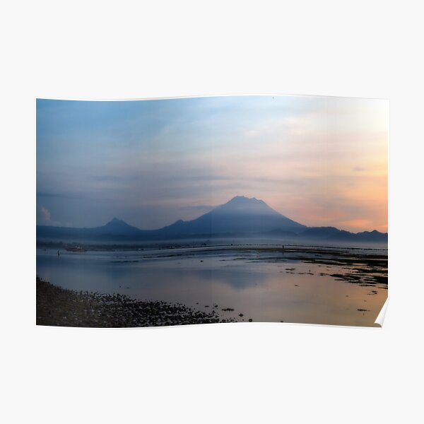 Mnt. Agung in the early morning Poster