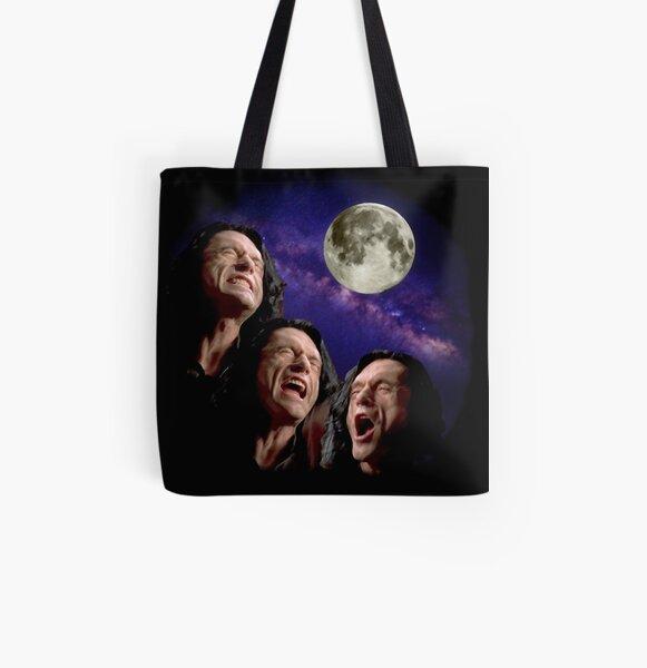 Three Wiseau Moon All Over Print Tote Bag