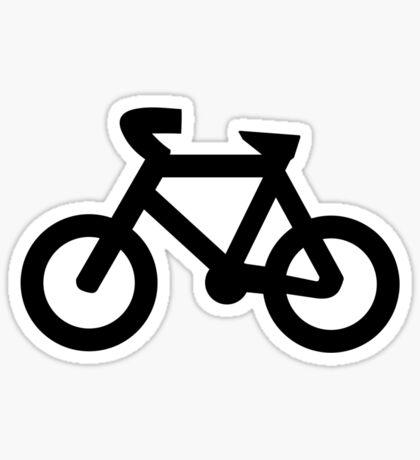 Bike in Black Sticker