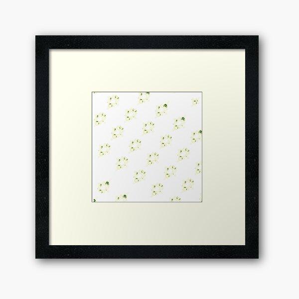 Cream canal flowers  Framed Art Print