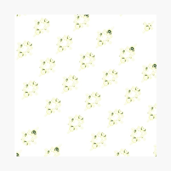 Cream canal flowers  Photographic Print