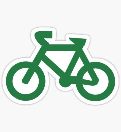 Bike in Green Sticker