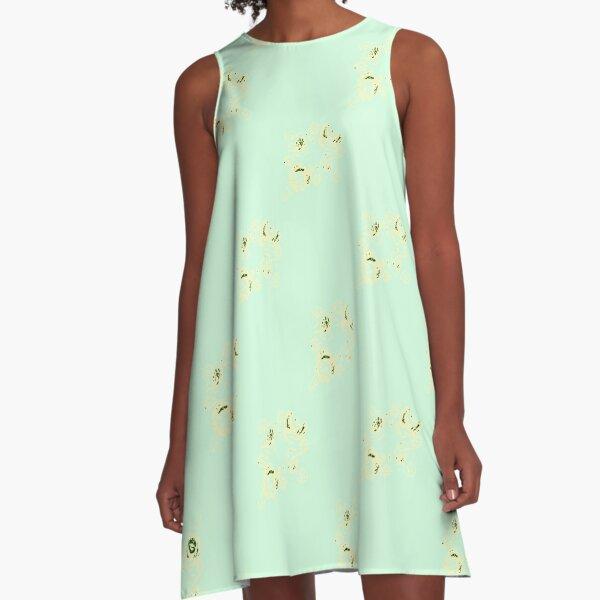 Cream canal flowers  A-Line Dress